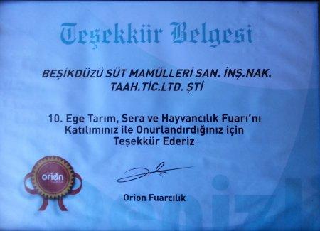 10.EGE TARIM FUARI...TE�EKK�R BELGES�...